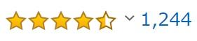 アマゾン評価星-レビュー件数