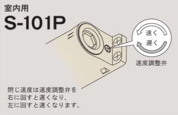 ドアクローザーの調整(ネジ1個タイプ)_リョービS-101P