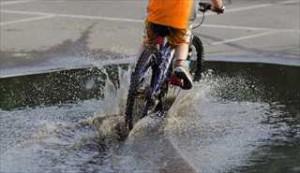水はね自転車