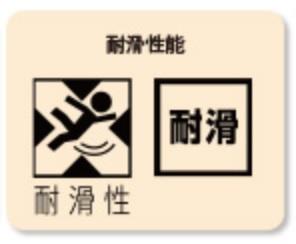 JSAA規格 耐滑性能表示(文字・ピクトグラム)