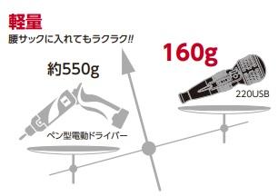 電ドラボール-軽さ-160g