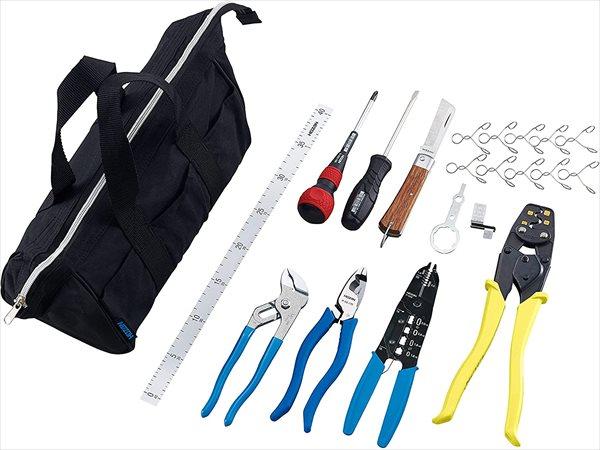 ホーザン 【DK-17】 基本工具 + P-958 VVFストリッパー + 便利ツール3種_R