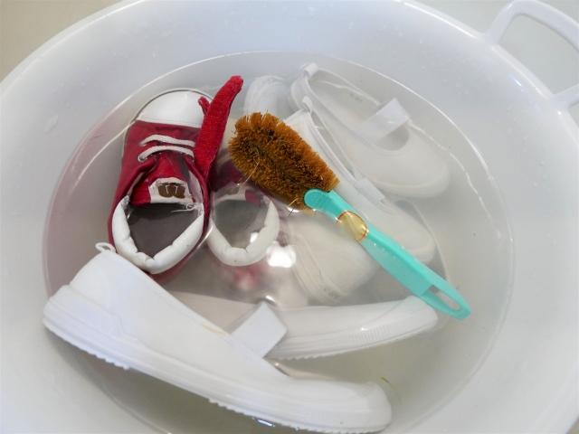 子供靴-洗う-乾燥
