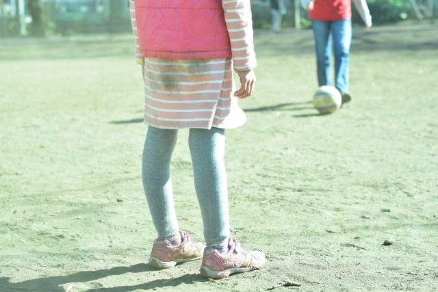 子供靴-汚れる