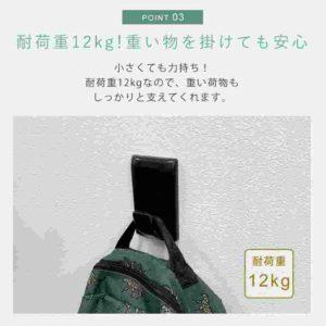 壁美人フック-耐荷重12Kg_R