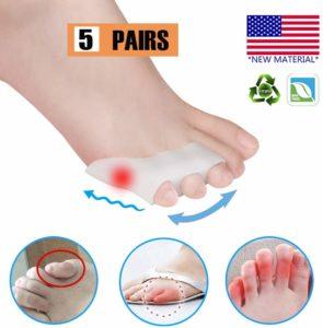 Pnrskter 内反小趾 サポーター 足指分離パッド 内反小趾矯正 水疱 摩擦からの痛みの軽減 歩行の負担を軽減 靴ズレ防止 10個入