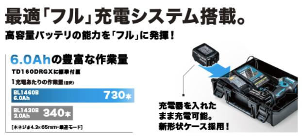 TD160DRGX-バッテリー