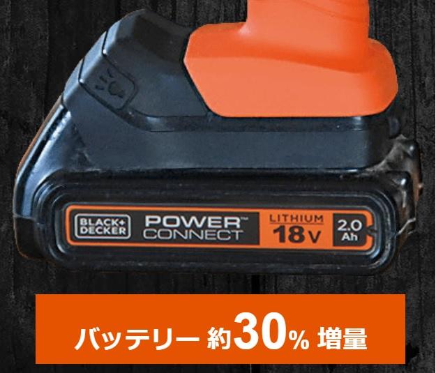 ブラックアンドデッカー マルチツール 新型 evo185-2Aバッテリー
